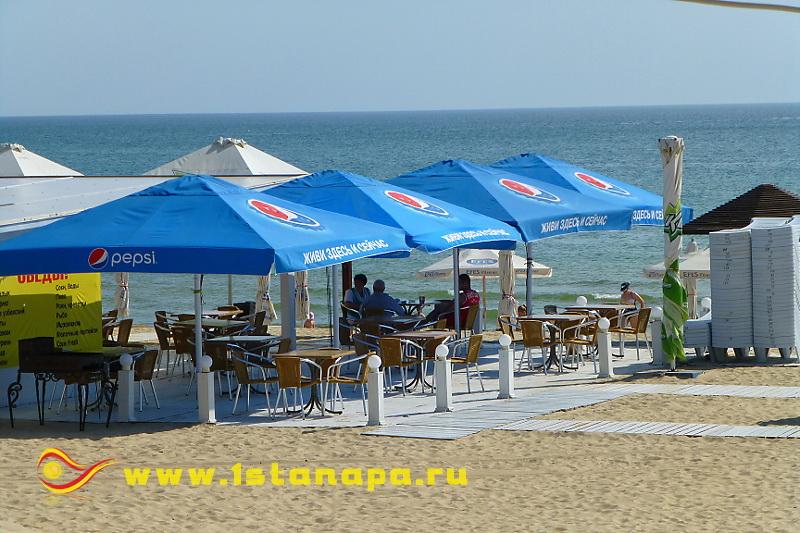 Анапа п. Джемете кафе на пляже