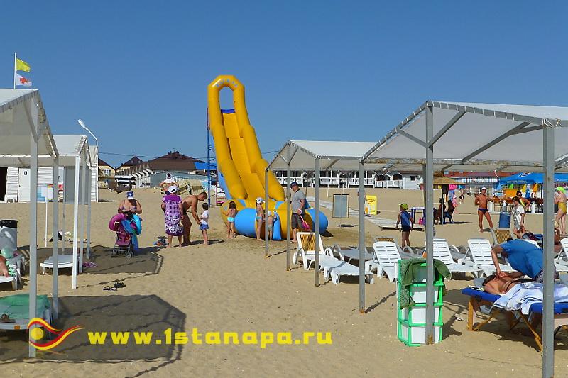 Анапа п. Джемете оборудованный пляж